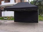 3*6 m sort push-up telt.
