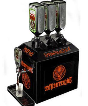 Jagermaister maskine m. plads til 3. flasker. Leje 1 / 1